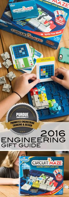 Circuit Maze by Thinkfun Toys is one of the amazing toys reviewed in the 2016 Purdue University Engineering Gift Guide Christmas Crafts For Kids, Christmas Activities, Christmas Treats, Craft Gifts, Gifts For Kids, Engineering Toys, Amazing Toys, Purdue University, Baby Crafts