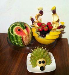 Frugt på en sjov og kreativ måde:-)
