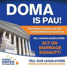 DOMA (and Prop 8) are all pau!