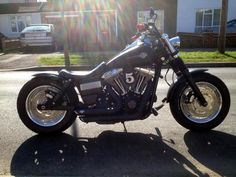 Mark's Harley Davidson Fat Bob with extended Voodoo Fender | Rocket Bobs