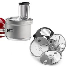 Get processing with your KitchenAid Stand Mixer. The Food Processor attachment simply attaches to the hub of your stand mixer to dice slice shred and julienne your favorite fruits vegetables and ha. Kitchen Aid Mixer Attachments, Kitchen Mixer, Kitchen Dining, Kitchen Appliances, Kitchenaid Attachments, Kitchen Stuff, Kitchenaid Food Processor, Kitchenaid Stand Mixer, Food Processor Recipes