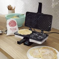 CucinaPro Nonstick Pizzelle Maker | Crate and Barrel- ships free!