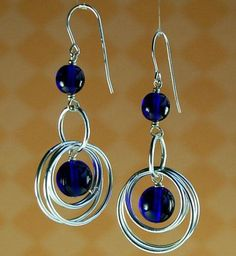 do you love the stunning earrings design by SISSEL OLESEN? anyway, i love the blue glass beads most!