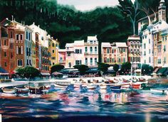 Portofino, 30X40 Watercolor - Rusty Walker Laurie's note: Rusty was my drawing and illustration teacher in college.