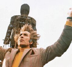 """The Wicker Man"" - Christopher Lee  The original is a creepy horror film, a mystery, and a serious discussion of paganism and cultural anthropology. The remake, with Nicolas Cage, is just awful."