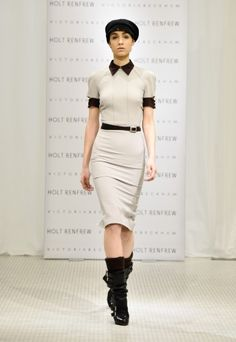 Victoria Beckham Fall 2012 Runway Presentation at Holt Renfrew | KENTON magazine. Love this dress!