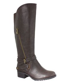 Love this Chocolate California Wide-Calf Boot on #zulily! #zulilyfinds