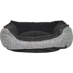 Happy Tails Faux Linen Cuddler 21 by 17Inch BlackGray ** Continue to the product at the image link.(This is an Amazon affiliate link and I receive a commission for the sales)