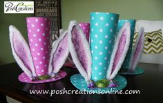 Polka Dot Easter Hat Easter Bunny Hat Easter by poshcreationsKY Easter Craft Activities, Easter Crafts, Crafts For Kids, Easter Ideas, Easter Hat Parade, Bordeaux, Easter Bunny Ears, Diy Wreath, Wreath Ideas
