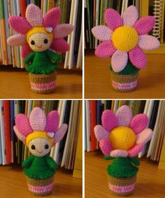 #amigurumi flower doll