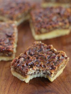 A fall favorite - Ina Garten's chewy caramel pecan squares.