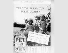 The Fultz Quads in a Pet Milk ad