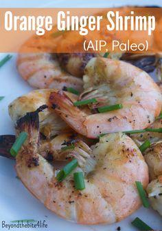 Grilled Orange Ginger Shrimp (AIP/Low-FODMAP/Paleo)