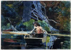 Winslow Homer - The Adirondack guide - watercolor