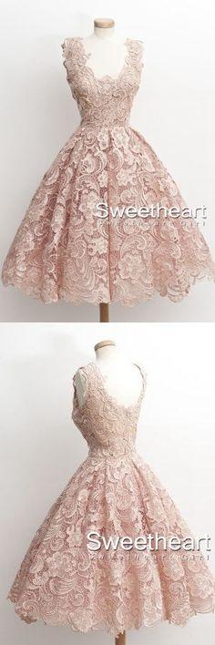 A-line Lace Short Prom Dress,Homecoming Dress, Short Prom Dresses