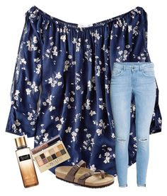 """""they say that you're a homeschooled jungle freak, who's a less-hot version of me"""" by samanthars on Polyvore featuring American Eagle Outfitters, H&M, Birkenstock, Victoria's Secret, tarte and Maybelline"