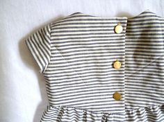 Striped Organic Cotton and Hemp Quilted Dress: HarrietsHaberdashery on etsy