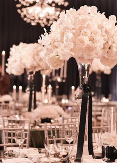whimsical #pink and #black #wedding reception ideas.