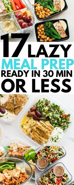 Healthy meal prep - 17 Healthy Lunches You Can Meal Prep For The Week mealplanning healthy forbeginners forweightloss Balanced Meals, Balanced Diet, Balanced Meal Plan, Prepped Lunches, Meal Prep For The Week, Meal Prep For Work, Work Meals, Meal Prep Bowls, Lunch Recipes