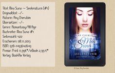 """""""Mea Suna"""" ist eine Geschichte die in der Gegenwart spielt, mit mysteriösen und fantasiereichen Elementen, einer guten Portion Action & Thrill und einer beginnenden sanften Liebesgeschichte. Für mich ist """"Seelensturm"""" ein grandioser Serienauftakt der gelesen werden muss. Ein absolutes Lesehighlight! ~ spannend ~ fantasiereich ~ lebendig ~ emotional ~ pageturner ~"""