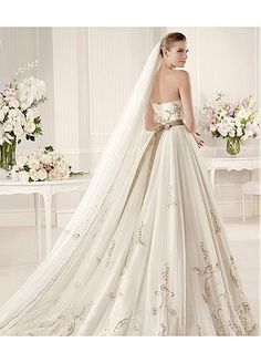A-line Wedding Dress. I just love how it flows