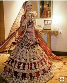 Red Bridal Lehenga with exquisite embriodery Picture Courtesy kamal kaur Mkaeup Beauty Scoop India