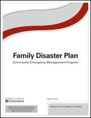 FAMILY DISASTER PLAN pdf template:  you fill it out with your own family's personal information