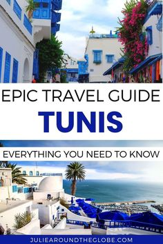 Tunis Travel Guide - Discover the best things to do in Tunis, Tunisia's capital - Shop at the souk and explore the medina, visit Carthage and Sidi Bou Said. - Everything you need to know to plan your trip to Tunis Africa Destinations, Amazing Destinations, Travel Destinations, Travel Guides, Travel Tips, Africa Travel, Plan Your Trip, World Heritage Sites, Where To Go