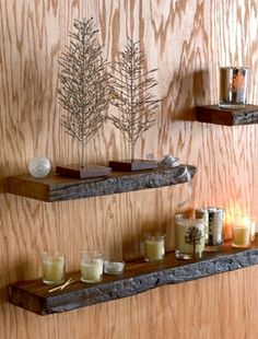 Reclaimed Wood Shelves - Rustic Shelves Made from Recycled Railroad Ties