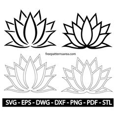 Meaning Lotus Flower Vector Stencil Designs