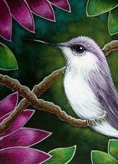 Art: TINY VIOLET HUMMINGBIRD IN MY GARDEN 2 by Artist Cyra R. Cancel Dry Pastels, Chalk Pastels, Hummingbird Painting, Cactus Painting, The Art Sherpa, Colored Pencil Techniques, Illustration Art, Illustrations, Color Pencil Art