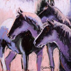 Watchers Pastel Art, Animal Art, Painting, Abstract Artwork, Artwork, Abstract