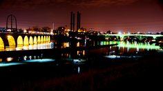 http://MillCityTimes.com - Minneapolis Riverfront on St. Patrick's Day.