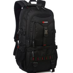 KAKA+35L+Knapsack+Climbing+Traveling+Bag+For+Hiking+Casual+Business,+Laptop+Backpack+Sports+Backpack+(Black) - $55.00