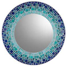 Custom Wall Mirror - Round Mosaic Mirror by opusmosaics on Etsy…
