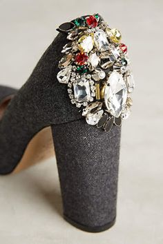 #anthrofave. Love the embellishments. Hate height of heel.
