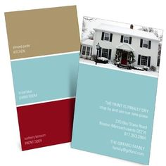 What colors to paint, of course! Customize this Moving Announcement with the three colors of your choice... from the kitchen color to the color of the front door!