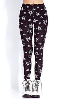 Get fab leggings in prints, solids, denim and edgy picks | Forever 21 - 2000074692