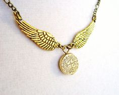 Elegant Harry Potter Golden Snitch Necklace by ViperCoraraDesigns