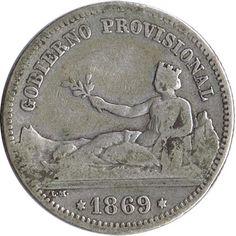 1 Peseta 1869 Gobierno Provisional. MBC-