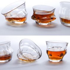 These Tipsy Melting Glasses Add a Post-Modern Touch to the Kitchen #lifestyle trendhunter.com