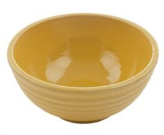 Large Yellow Mixing Bowl Vintage Yellowware Pottery Bowl Ribbed Sides Excellent Condition Rustic Shabby Farmhouse Chic Kitchen Decor