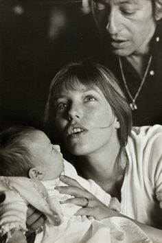 Jane Birkin, Serge Gainsbourg & baby Charlotte. Photography by Giancarlo Botti