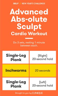 """Take """"Absolute Sculpt"""" up a notch with this advanced variation! In less than 10 minutes, you'll knock out an effective cardio and abs training session. And the single-leg planks will seriously test your balance and core strength."""