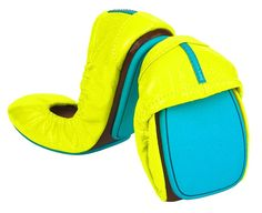 """unmellow yellow"" tieks...ballet, neon, comfy, and convenient, rolled into one? YESH"