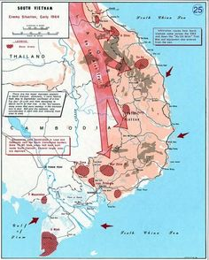 Map Of Major US Air Force Bases In South Vietnam During The - Change map of 1968 us