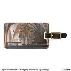 Orgel Pfarrkirche St.Wolfgang am Wolfgangsee Travel Bag Tags