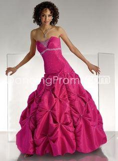 Taffeta Strapless Mermaid Asymmetrical Pick up Skirt Hot Sell Prom Dress FL2
