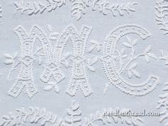 Monogrammed Whitework – An Exquisite Piece of Needlework! – Needle'nThread.com