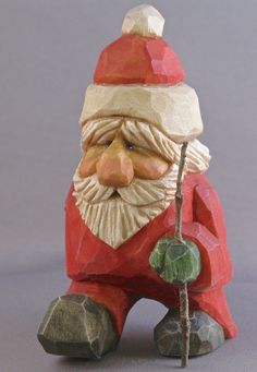 Santa's Messenger, hand carved caricature. $60.00, via Etsy.